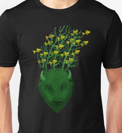 Sea Buffalo Dreaming Green Heart  Unisex T-Shirt