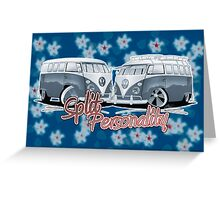 Split Personality (Blue) Greeting Card