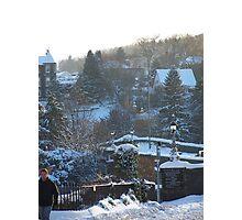 Snow covered Tweed Bridge  Photographic Print