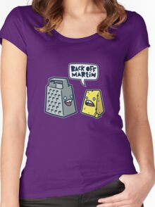 Back Off Martin! Women's Fitted Scoop T-Shirt