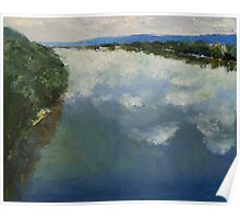 Ohio River Painting Poster