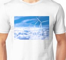 Wind turbines over Copenhagen blue sky, Denmark Unisex T-Shirt