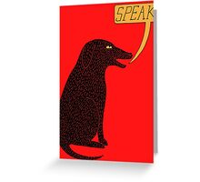 Big Dog in Charge Greeting Card