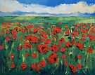 Field of Red Poppies by Michael Creese