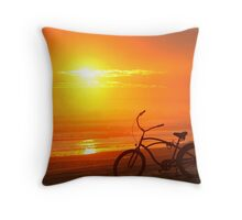 Sunset Cruiser Throw Pillow