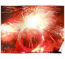 London Eye Fireworks Poster