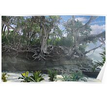 1516-XL-Old Florida Beach Roots Poster