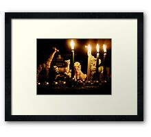 Happy Chanukah from the Wild Ones Framed Print