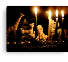 Happy Chanukah from the Wild Ones Canvas Print