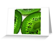 kiwi slices Greeting Card