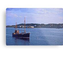 Fishing boat returning to Killybegs Harbour, Donegal, Ireland, circa 1959 Metal Print
