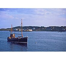 Fishing boat returning to Killybegs Harbour, Donegal, Ireland, circa 1959 Photographic Print