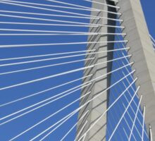 Ravenel Bridge Abstract Sticker
