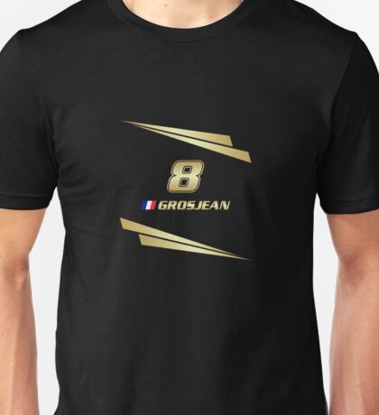 F1 2015 - #8 Grosjean [v2] Unisex T-Shirt