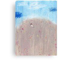 Wildflowers hillside Canvas Print