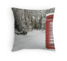 The Telephone box Throw Pillow