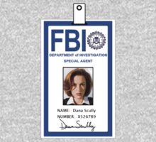 X-Files Dana Scully ID Badge Shirt T-Shirt