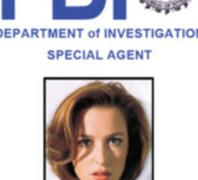 X-Files Dana Scully ID Badge Shirt Sticker