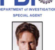 X-Files Fox Mulder ID Badge Shirt Sticker