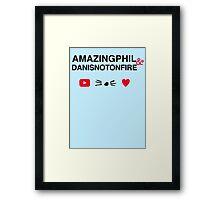 Amazingphil & Danisnotonfire Framed Print