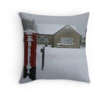The Postbox in Bussage Throw Pillow