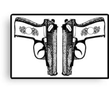 Pistols Canvas Print