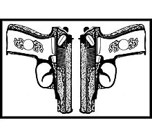 Pistols Photographic Print