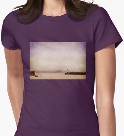 Penzance harbour in pastel Womens Fitted T-Shirt