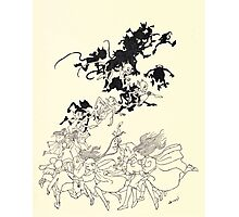 The Zankiwank & the Bletherwitch by Shafto Justin Adair Fitz Gerald art Arthur Rackham 1896 0113 Goblins Photographic Print
