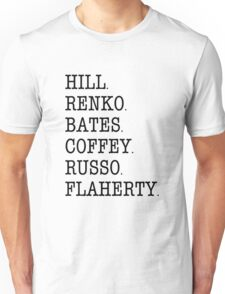 Hill Street Blues - Cast Roll Call (uniform officers) Unisex T-Shirt