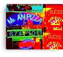 M an Pizza Canvas Print