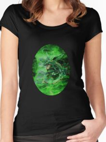 Green Whirlwind Rayquaza Women's Fitted Scoop T-Shirt