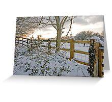 Snow fall Dartmoor  Greeting Card