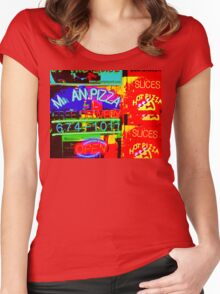 M an Pizza Women's Fitted Scoop T-Shirt
