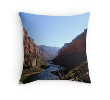 river bends Throw Pillow