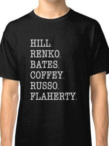 Hill Street Blues - Cast Roll Call (uniform officers - light) Classic T-Shirt