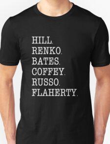 Hill Street Blues - Cast Roll Call (uniform officers - light) T-Shirt