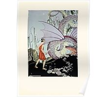 Tanglewood Tales by Nathaniel Hawthorne with Illustrations by Virginia Frances Sterrett 1921 135 Dragon Poster