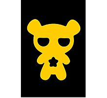 Lazy Bear Yellow Attention Photographic Print