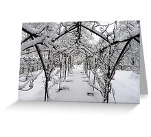 Snow Run Greeting Card