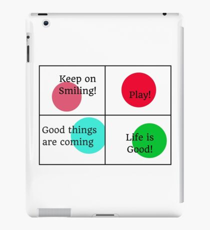 Positive Affirmations collage  iPad Case/Skin
