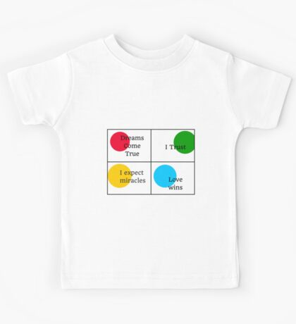 Positive Affirmations collage  Kids Tee