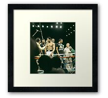 Ali being interviewed at weigh-in 2 Framed Print