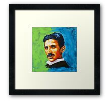 The Great Inventor - A Nikola Tesla Tribute Framed Print