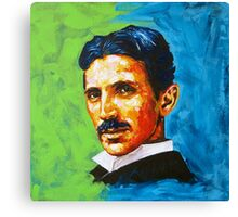 The Great Inventor - A Nikola Tesla Tribute Canvas Print
