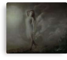 The moon awakens her passion Canvas Print