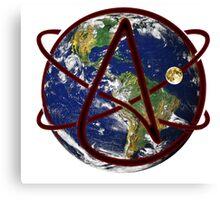 Atheist Earth Canvas Print