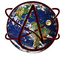 Atheist Earth Photographic Print