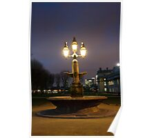 Greenwich fountain Poster