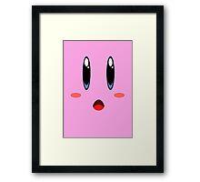 kirby face Framed Print